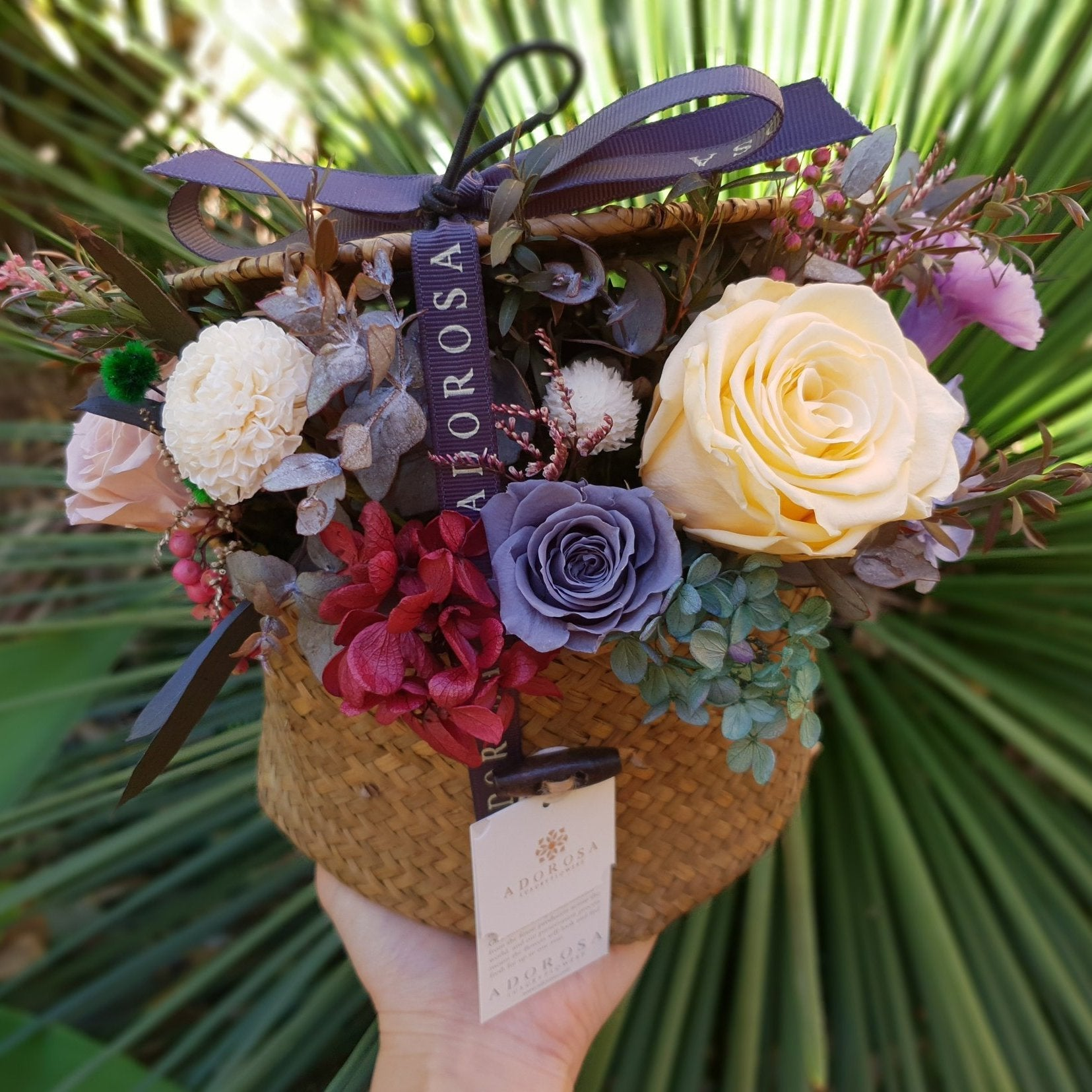 A D O R O S A Signature Hat Box Luxury Long Lasting Flowers