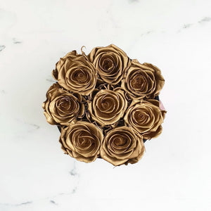 gold rose, long lasting roses, infinity roses, everlasting roses, preserved roses, preserved flowers, rose delivery sydney, rose box sydney, flower box sydney, preserved roses sydney