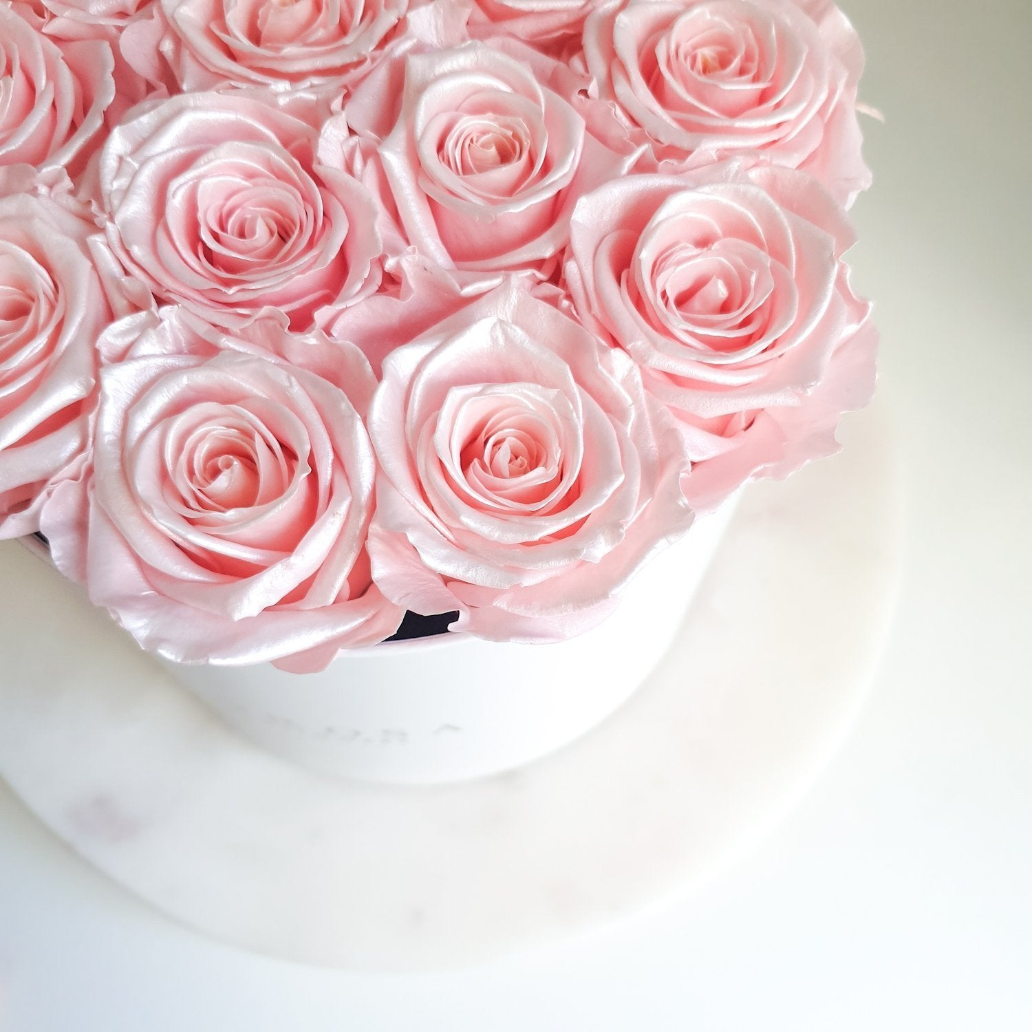 long lasting roses, metallic roses, pink roses, rose box delivery sydney, luxury rose box