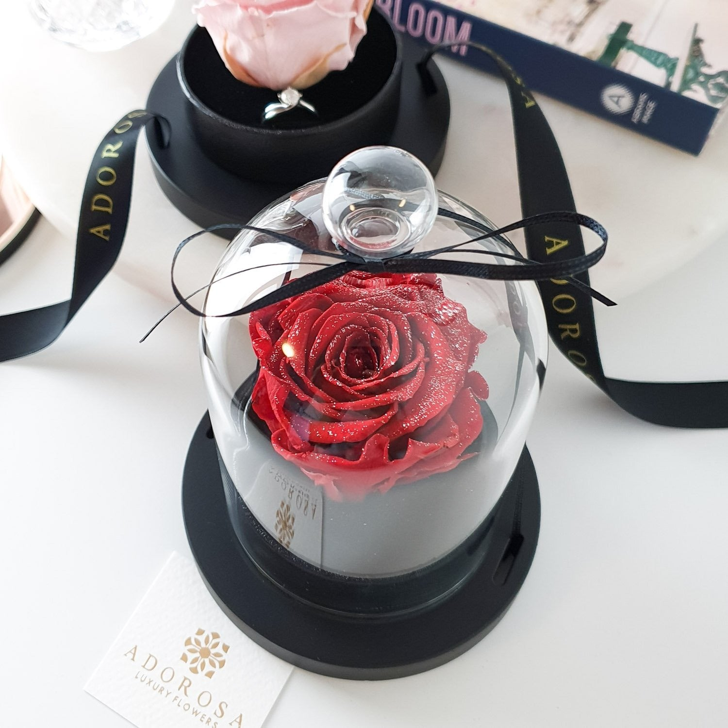 glass dome rose, luxury rose sydney, long lasting rose sydney, everlasting roses, preserved roses, valentine's day, rose box, enchanted rose