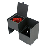 Proposal Ring Box with the ring and our diamond rose that will last a year or more compartment - delivery across Sydney and Australia