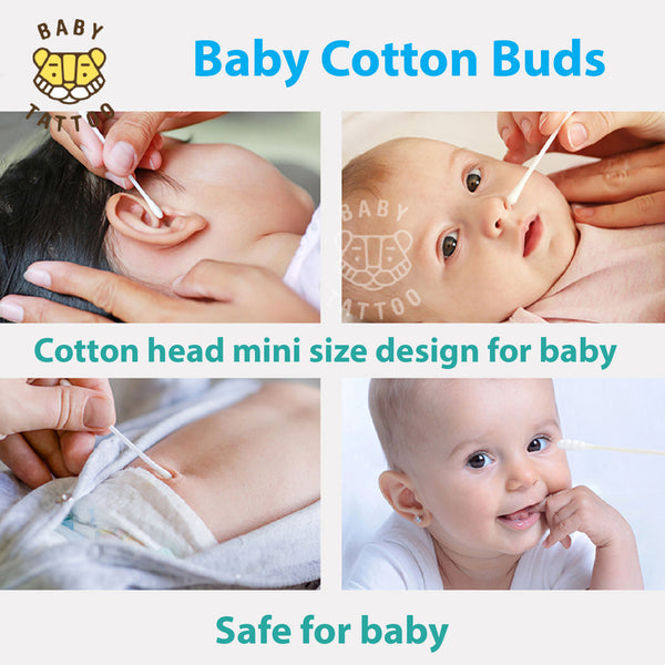 Baby Tattoo 100% Cotton Bud Thin Tip Baby Cotton Bud