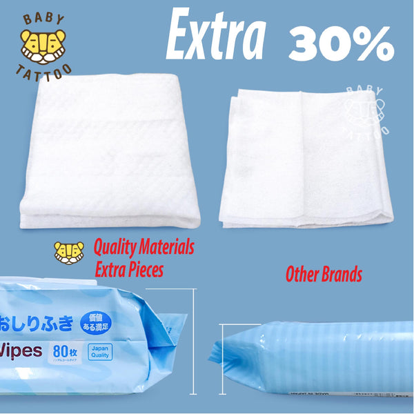 Baby Tattoo Wet Wipe Tissue (5 Packs x 80 Pieces)