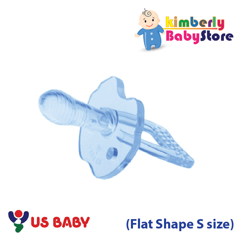 US Baby Sili-Smart Flat Shape Pacifier with case (S)