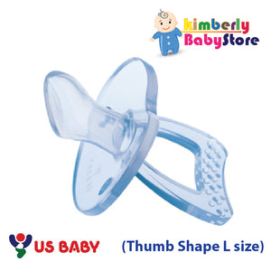 US Baby Sili-Smart Orthodontic (Thumb Shape) Pacifier with case (L)