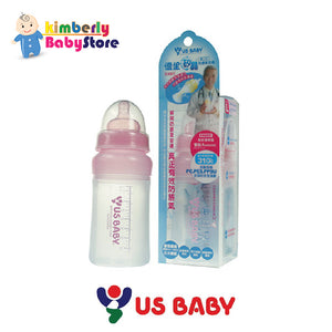 US Baby Sili-Smart Wide Neck Anti Colic Bottle L230ml