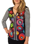 Dolcezza Simply Art Collection Front Zip Closure Top