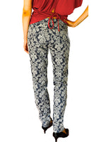 Mid Rise Skinny Pants Jacquard Textured by Le Phare, France
