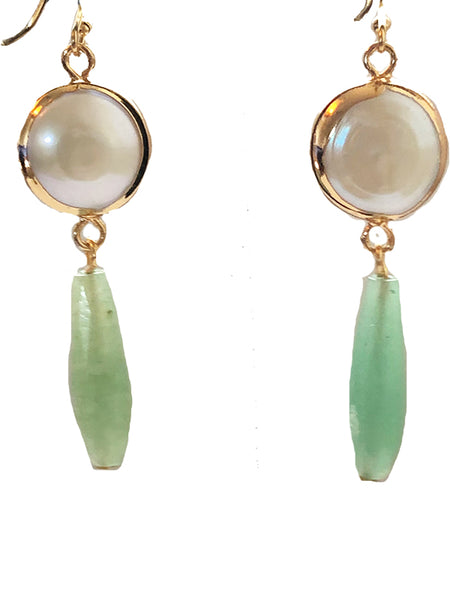 Freshwater Pearl Gemstone Dangle earrings