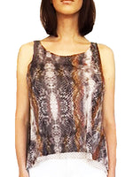 Mesh Double Layer Flowy Top