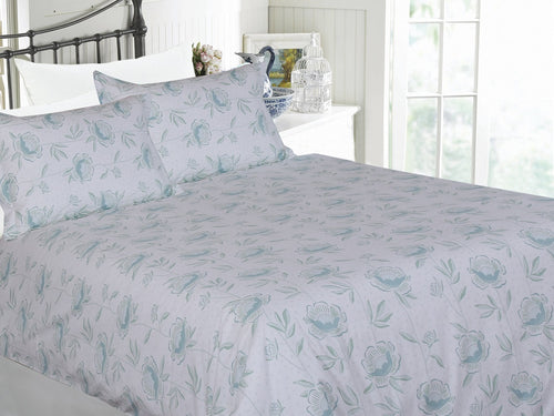 Peony Blossom Cotton Printed Bed Sheet Set