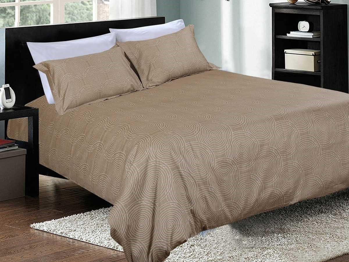 Suede Union Cotton Printed Bed Sheet Set