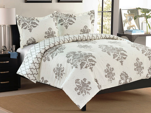 The Pearl Leaf Cotton Printed Bed Sheet Set
