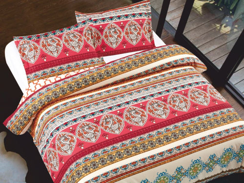 Color Coupe Cotton Printed Bed Sheet Set