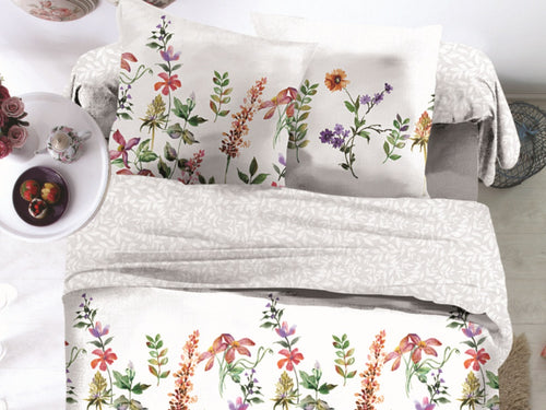 Spring Glory Microfiber Printed Bed Sheet Set