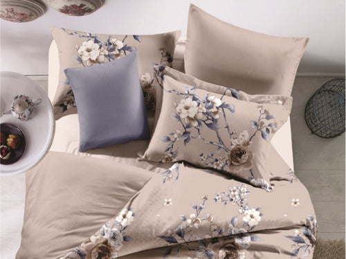 Elegant Florals Microfiber Printed Bed Sheet Set
