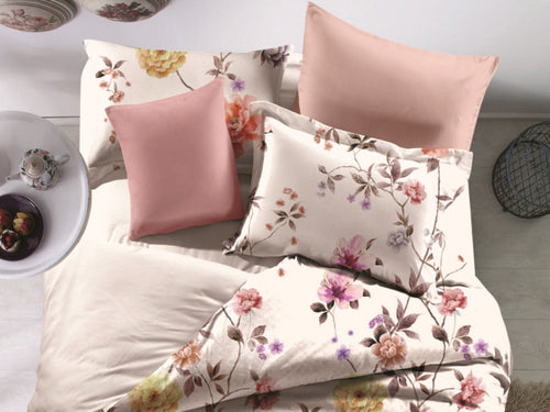 Calming Florals Microfiber Printed Bed Sheet Set