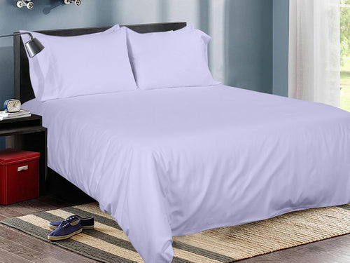 Lavender Cotton Solid Bed Sheet Set