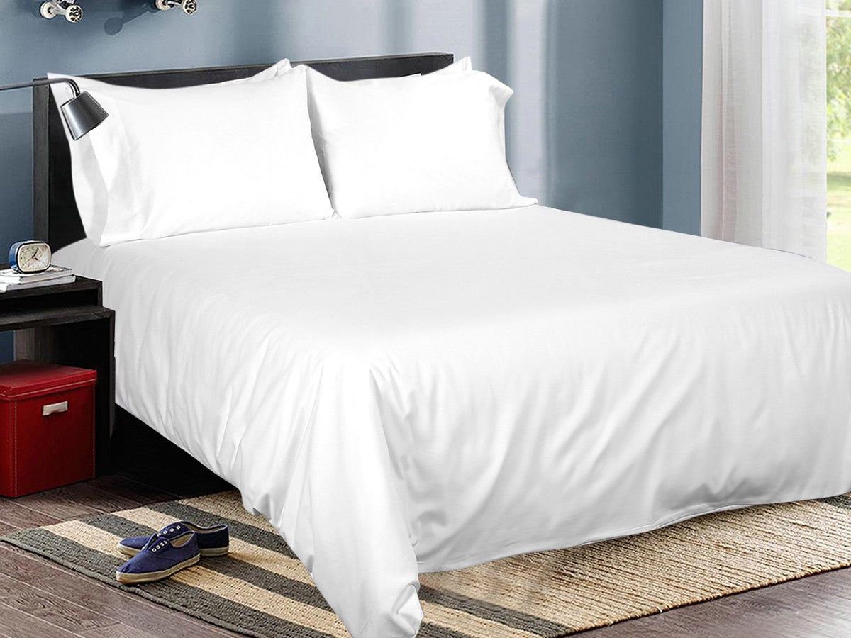 Lumière Cotton Solid Bed Sheet Set