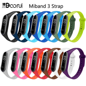 BOORUI Mi Band 3 Strap wrist strap for Xiaomi mi band 3 Silicone Miband 3 accessories Colorful pulsera correa Mi 3 replacement