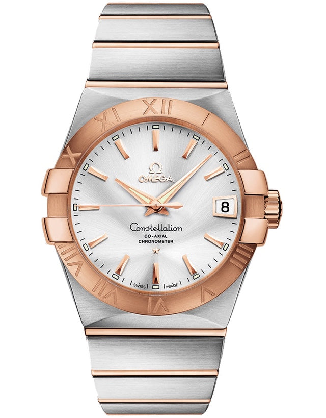 OMEGA Constellation Silver Dial Rose Gold and Steel Men's Watch