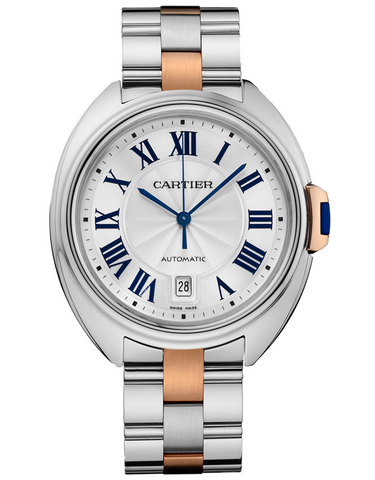 CARTIER CLE DE CARTIER 40MM ROSE GOLD & STEEL AUTOMATIC MEN'S WATCH
