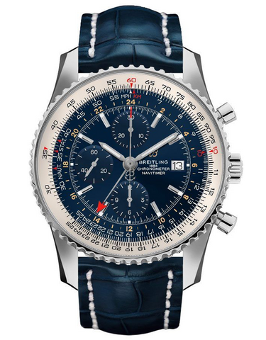 Breitling Navitimer 1 Chronograph GMT 46 Automatic Blue Dial Watch