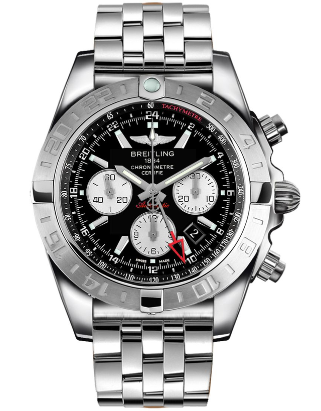 Breitling Chronomat 44 GMT Black Automatic Chronograph Steel Men's Watch