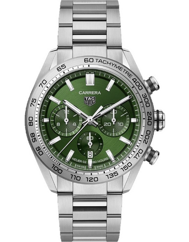 Tag Heuer Carrera Chronograph Automatic Green Dial Men's Watch