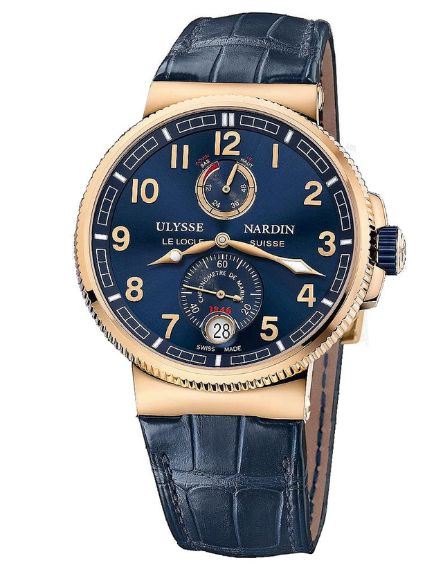 Ulysse Nardin Marine Chronometer Manufacture Blue Dial Men's Watch