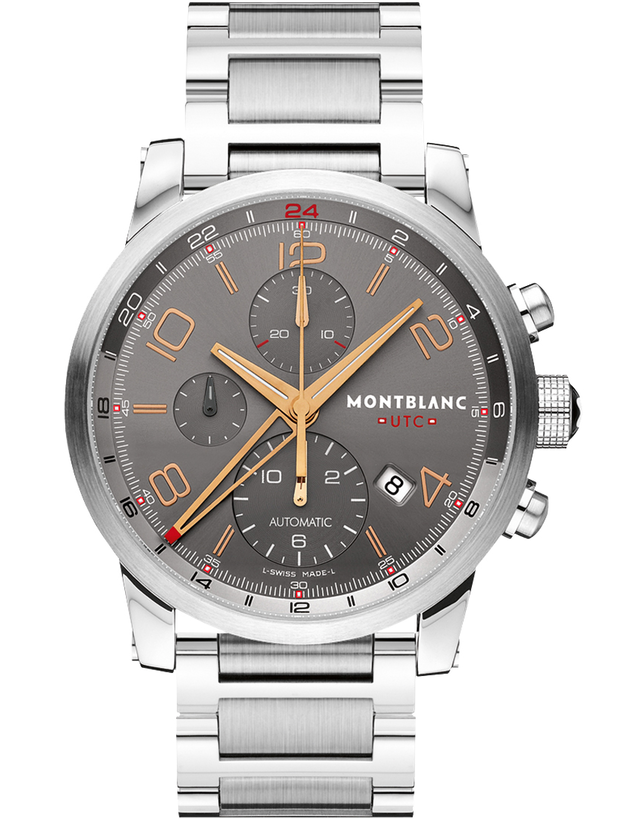MontBlanc TimeWalker Automatic Chronograph Grey Dial Men's Watch