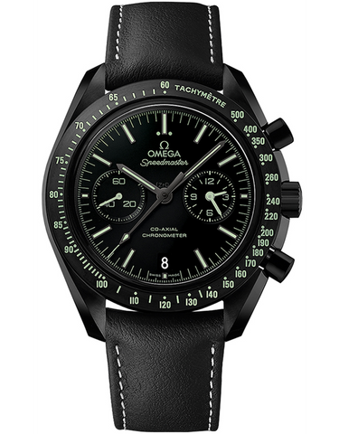 Omega Speedmaster Moonwatch Co-Axial Chronograph Dark Side Pitch Black Men's Watch