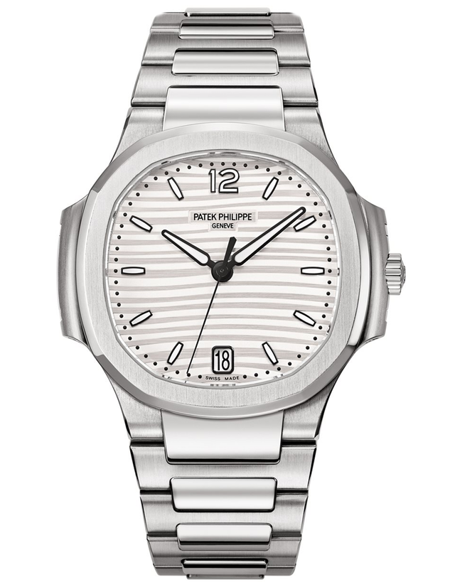 Patek Philippe Nautilus Stainless Steel Silvery White Automatic  Ladies Watch