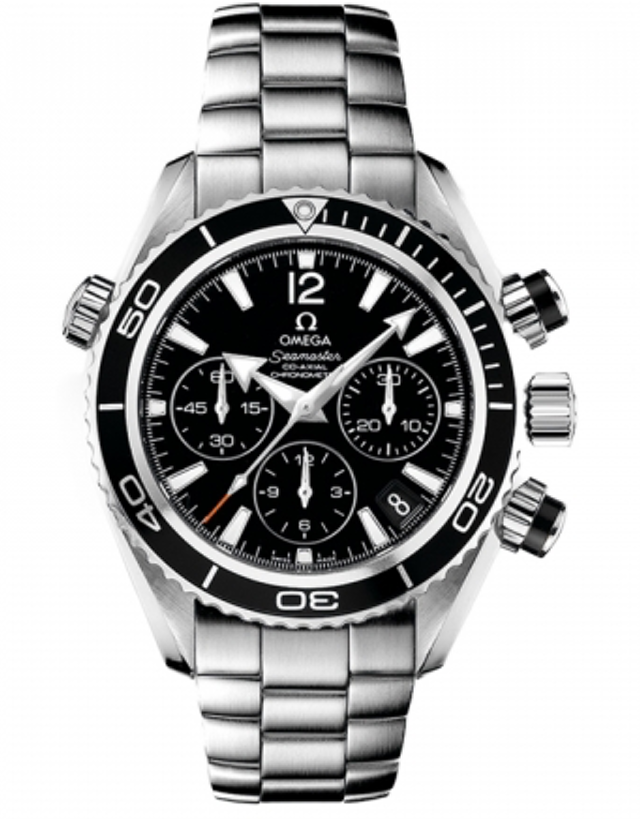 OMEGA SEAMASTER PLANET OCEAN 600M CHRONOGRAPH 37.5MM BLACK DIAL STEEL UNISEX WATCH