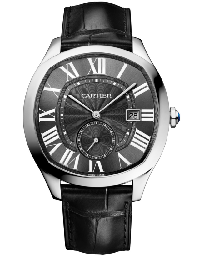 CARTIER DRIVE DE CARTIER 41MM BLACK DIAL CROCODILE STRAP MEN'S WATCH