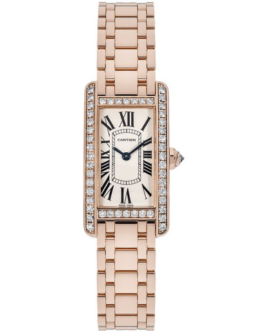 Cartier Tank Americaine Solid 18k Rose Gold Women's Watch