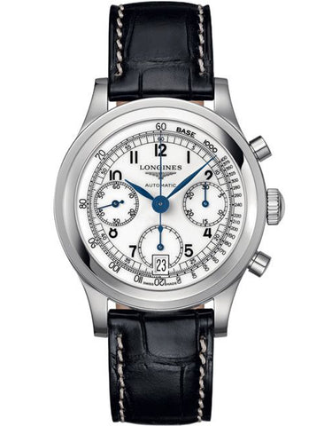 Longines Heritage Silver Dial Men's Automatic Chronograph Men's Watch