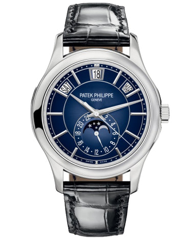 Patek Philippe Complications 18k White Gold Blue Automatic Men's Watch