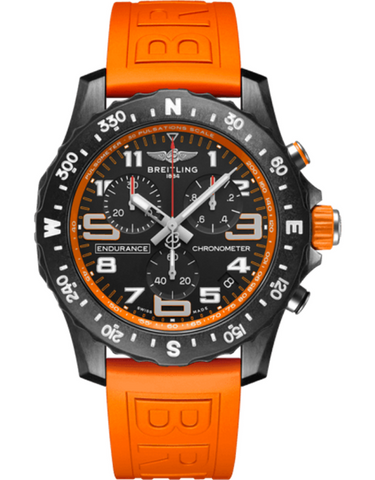 Breitling Professional Endurance Pro Orange Rubber Strap Unisex Watch