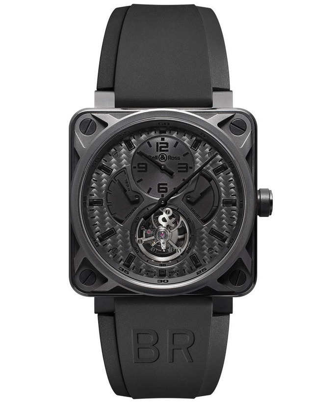 Bell & Ross Aviation Instruments Black Carbon Fiber Dial Watch