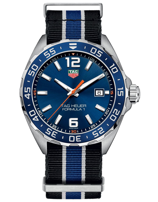 Tag Heuer Formula 1 Quartz Blue Dial Nato Strap Men's Watch