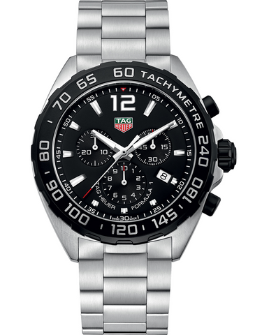 Tag Heuer Formula 1 Quartz Chronograph Black Dial Men's Watch