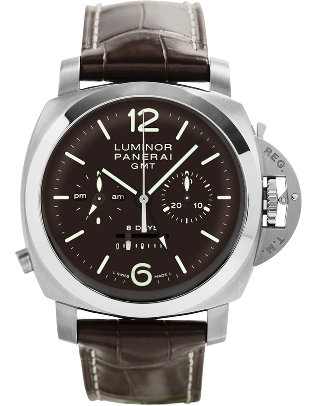 Panerai Luminor 1950 8 Days Chrono Monopulsante GMT Titanio 44Mm Men's Watch