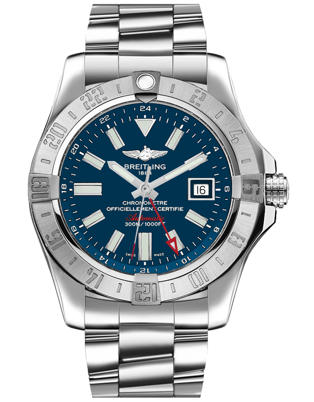 BREITLING AVENGER II GMT BLUE DIAL MEN'S WATCH