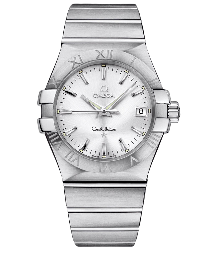 Omega Constellation Quartz 35mm Silver Dial Steel Men's Watch