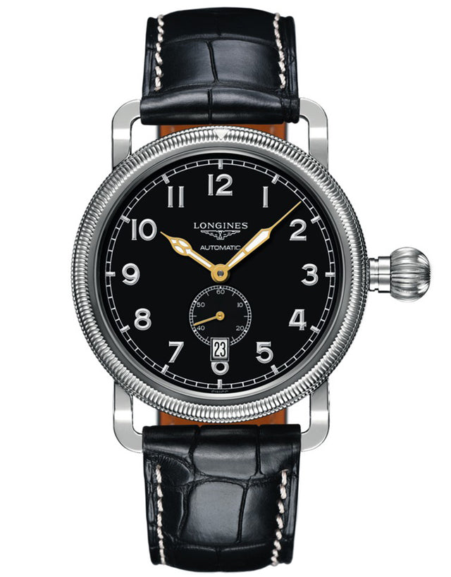 Longines Heritage Black Dial & Stainless Men's Watch