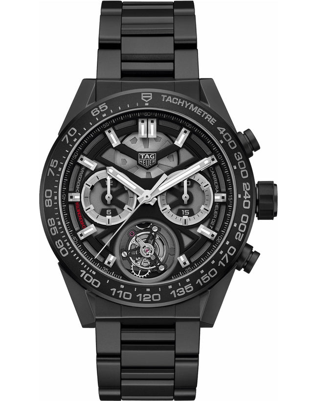 Tag Heuer Carrera Tourbillon Ceramic 45mm Men's Watch
