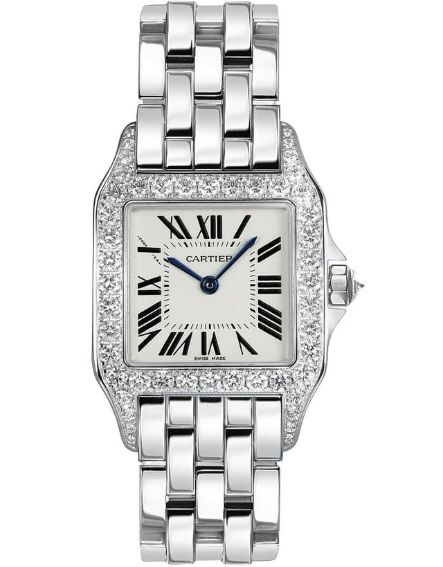 Cartier Santos Demoiselle Solid 18k White Gold Women's Watch