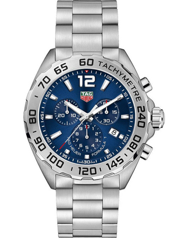 Tag Heuer Formula 1 Blue Sunray Dial Chronograph Men's Watch