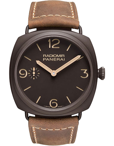 Panerai Radiomir Composite Brown Dial Brown Leather Men's Watch